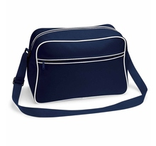 Sac bandoulière retro shoulder bag BG14 - bleu marine tour blanc