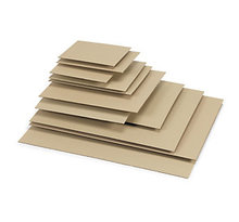 Lot de 50: Plaque en carton ondulé simple cannelure 44,5 x29,5 cm