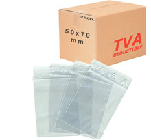 Lot de 100  Sachets zip transparent 50µ 50×70