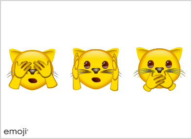 Tryptique d'Emojis chats
