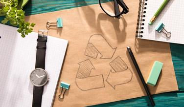 Avec Recygo, il est possible de trier et de recycler l'ensemble des déchets de bureau