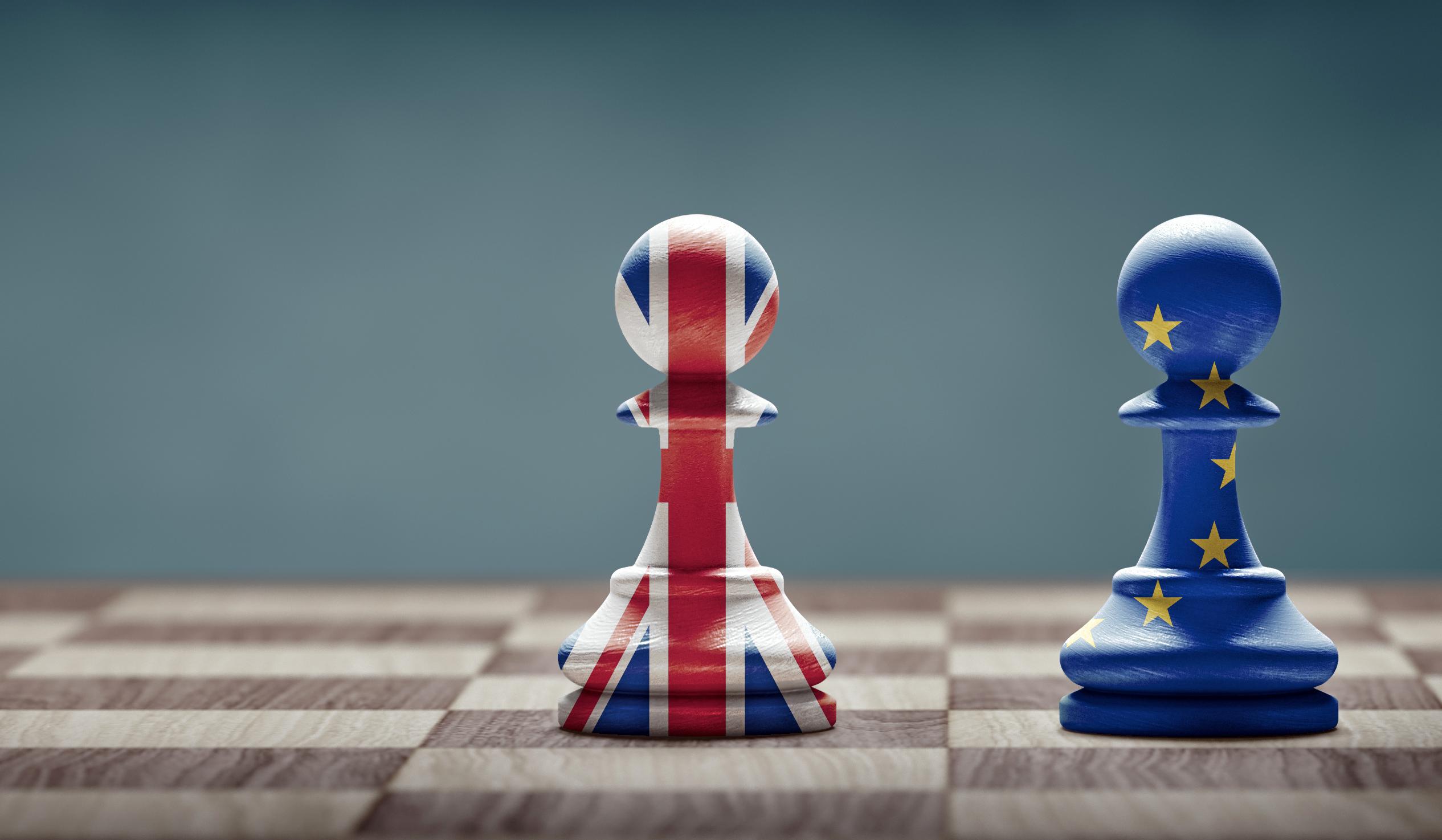 illustration du drapeau européen et britannique