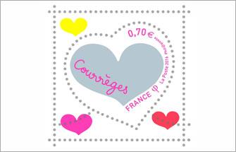 Les timbres « cœur » signés Courrèges