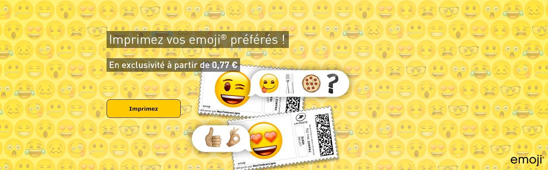 Imprimez vos emoji® préférés !
