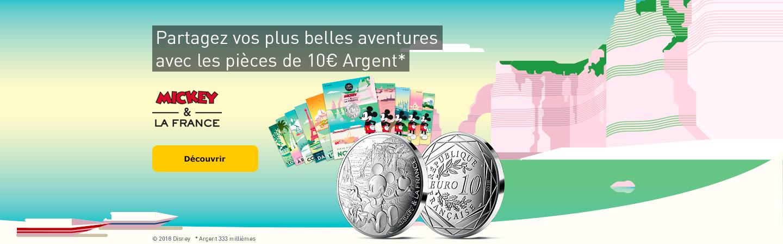 Partagez vos plus belles aventures avec les pièces de 10€ argent