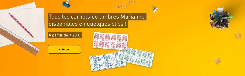 Tous les carnets de timbres Marianne disponibles en quelques clics !