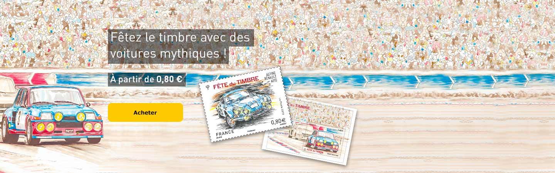 Fêtez le timbre avec des voitures mythiques !