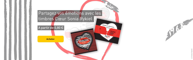 Partagez vos émotions avec les timbres Coeur Sonia Rykiel