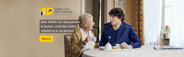Avec Veiller sur mes parents, le facteur rend des visites régulières à vos parents