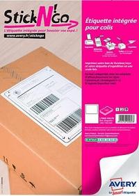 Avery - 100 étiquettes autocollantes pour Colissimo