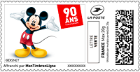 Timbres à imprimer - Mickey