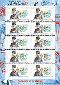 Minifeuille 10 timbres - Georges Guynemer