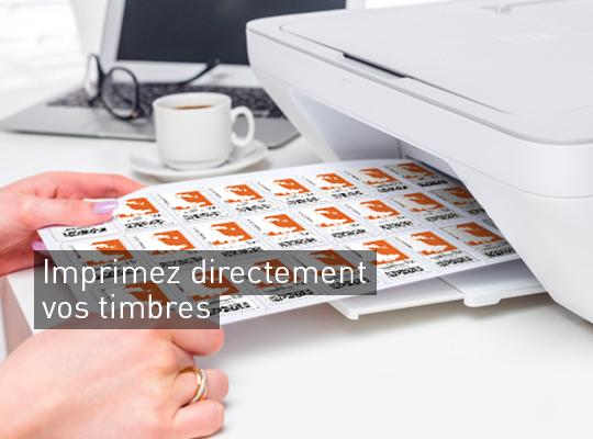Imprimer directement vos timbres