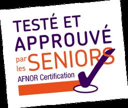 Img Afnor : Testé et approuvé par les séniors