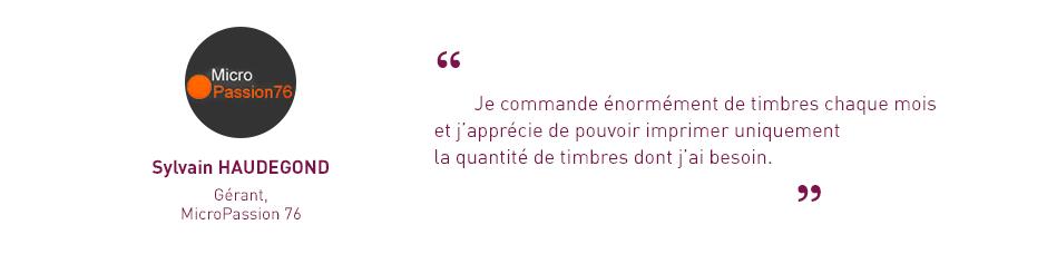 témoignage Sylvain Haudegond