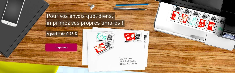 Pour vos envois quotidiens, imprimez vos propres timbres !