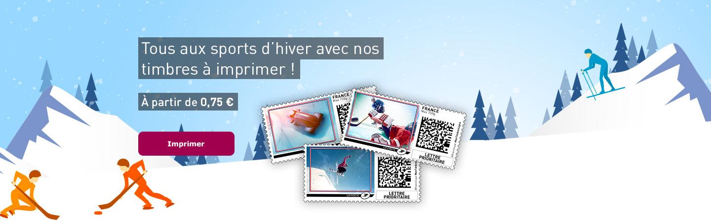 Tous aux sports d'hiver avec nos timbres à imprimer