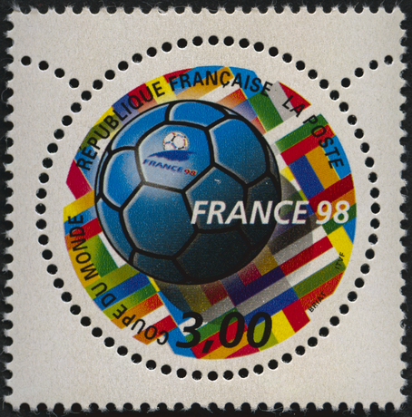Coupe du monde de football France 98 [timbre rond]-3139