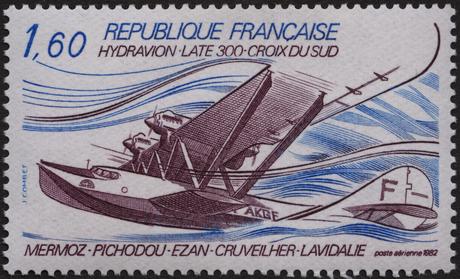 Timbre Hydravion Laté 300, Croix du Sud (56 PA) - La Poste