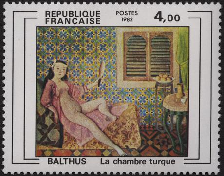 Oeuvre de Balthus : la chambre turque-2245