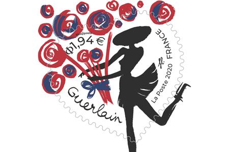 timbre coeurs guerlain fleurs